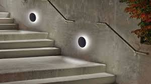 staircase outdoor wall mounted led lighting railings with