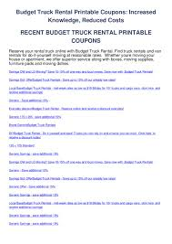 100 Budget Truck Rental Rates Truck Rental Printable Coupons By Salem Horn Issuu