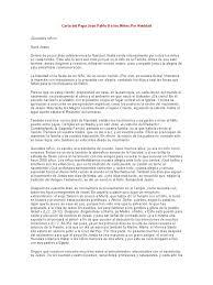 Carta Del Papa Juan Pablo II A Los Niños Por Navidad
