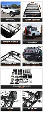 Aluminium Roof Rack For Nissan Patrol MK MQ GQ GU 2.2M Basket Alloy ... Apex Steel Universal Overcab Truck Rack Toyota And Cars Go Rhino 5924800t Srm200 Roof Autoaccsoriesgaragecom Holden Rodeocolorado Roof Racks 19992016 F12f350 Fab Fours 60 Rr60 Hilux 4dr Ute Double Cab 1015on Vortex Quick Mount The Ultimate Outdoorsman Roof Rack With Green And White Predator Led Rr481 58109677 Ebay Pickup Cargo Holders Racks Tailgate Hitches Revo Dc 2016current Smline Ii Kit By Ladder Cap World Vw Amarok Rack