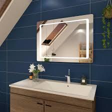 badspiegel mit led beleuchtung rund 84cm