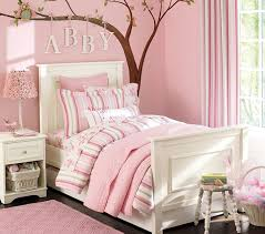 Pink Kids Bedroom Ideas With Tree Wall Decals