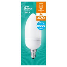 asda small edison candle 9 watt cfl light bulb asda groceries