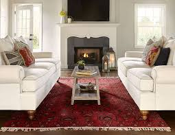 Red Persian Rug Takes Center Stage