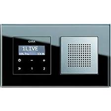 gira rds unterputz radio schwarzglasoptik mit lautsprecher