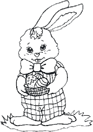 Easter Holiday Spring Coloring Pages Free For Kids Download Bunny