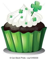 A Chocolate Cupcake For St Patrick s Day Vector