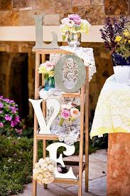 Great Vintage Garden Wedding Decor How To Decorate Your With Seemly Useless Ladders