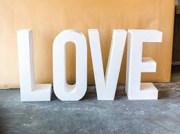 Love Sign Unfinished Foam Letters 4