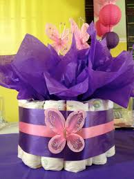 Dallas Cowboys Baby Room Ideas by Pink U0026 Purple Butterfly Themed Baby Shower Diaper Cake