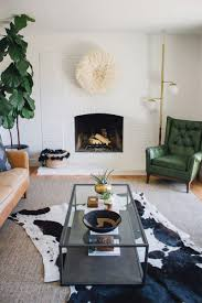African Safari Themed Living Room by South African Nguni Cowhide Rug White With Black Spots Large
