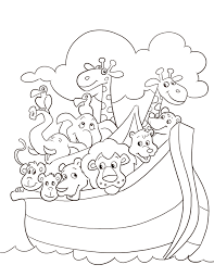 Noahs Ark Colouring Page