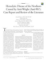 Rbc Tile Stone Of Iowa by Hemolytic Disease Of The Newborn Caused By Anti Wright Anti Wr