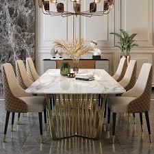luxus italienischen möbel set esszimmer marmor esszimmer set