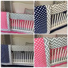 Navy And Coral Crib Bedding by Baby Baby Boy Twin Crib Bedding Set Navy Bright Pink Gray