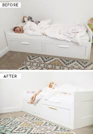 Ikea Aneboda Dresser Instructions by Perfect Bed Has Storage Drawers Underneath Low Base Profile And