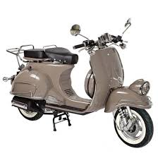 High Performance Adult Vintage Scooters Vespa Type 125cc Brown