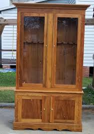 Wooden Gun Cabinet With Etched Glass by 25 Unique Gun Cabinet Plans Ideas On Pinterest Woodworking