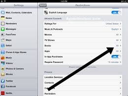 iOS 6 Parental Control in iBooks AppleToolBox
