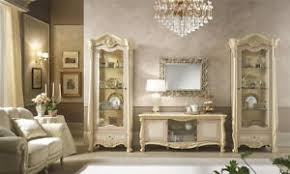 details zu wohnzimmer klassisch italienisch beige komplett set zwei vitrinen tv lowboard