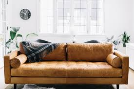 Living Room Decorating Ideas Black Leather Sofa by Modern Brown Leather Sofa For Livingroom Hupehome