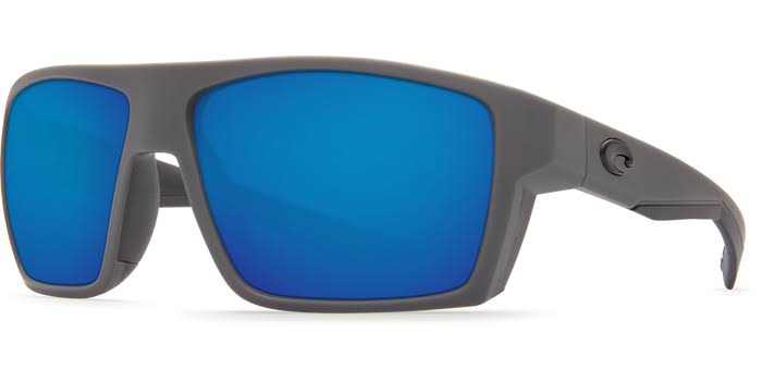 Costa Del Mar Bloke Polarized Sunglasses - 580g, Matte Grey and Blue Glass