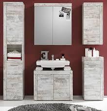 badezimmer bad möbel set pinie weiß shabby mit hochschrank