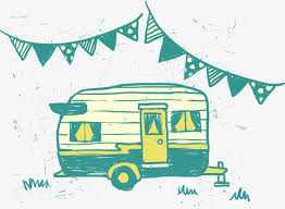 Cute Green House Hand Drawing Vector RV Camping Free PNG And