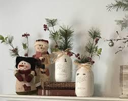 Christmas Decorations Rustic Mason Jar Vintage