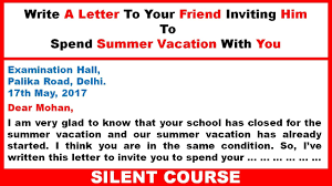 Write A Letter To Your Friend Inviting Him To Spend Summer