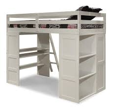 Wooden Loft Bed Design by White Loft Bed With Desk Armless Brown Wooden Chair Design Loft
