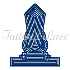 100 Art Deco Shape Linear Card TLD0013 Tattered Lace