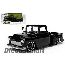 1955 Chevrolet Stepside Pickup Truck Black 1/24 Diecast Car Model By ... Just Trucks 1955 Chevy Stepside 124 Eta 128 Ebay Proline 1978 C10 Race Truck Short Course Body Clear Pickup Ss 5602 1 36 Buy Silverado Red Jada Toys 97018 2006 Chevrolet Another Toy Photo Image Gallery Rollplay 6 Volt Battypowered Childrens Rideon Diecast Scale Models Cars Treatment Please Page 2 The 1947 Present Gmc What Cars Suvs And Last 2000 Miles Or Longer Money