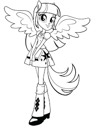 My Little Pony Equestria Girls Coloring Pages Of Girl Printable Games