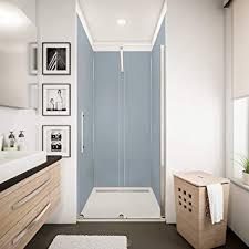 schulte dekodesign wandpaneele farbe 5 profile wandverkleidung für dusche und bad silbergrau 90 x 210 cm