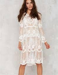 unique design loose beach dress summer style 2016 brand new white