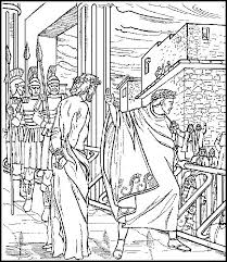 Coloring Pages Of Jesus Before Pilate