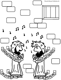 Paul And Silas In Prison Coloring Pages