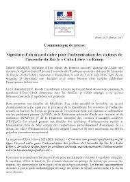 signature d un accord cadre pour l indemnisation des victimes de l