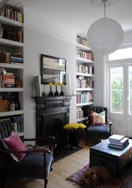 Living Room With Fireplace And Bookshelves by Thrifty Decor Dining Shelves And Room