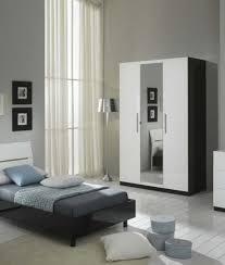 chambre a coucher blanc laqué glorino chambre complète noir et blanc laqué modiva