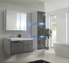 badmöbel set 1 new grau hochglanz weiß keramik waschbecken badezimmer led beleuchtung badezimmermöbel keramikbecken