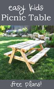 Folding Picnic Table Plans Build easy to make kids picnic table for about 20 and will last forever