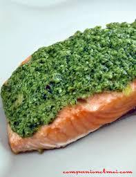 pavé de saumon au pesto recette companion moulinex companionetmoi