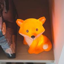 led a pile pour deco decoration pour chambre bebe 11 veilleuse renard orange avec