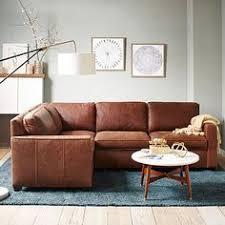 dekalb 2 piece premium leather sectional west elm dream home