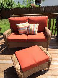 Martha Stewart Charlottetown Patio Collection (love Seat ... Fniture Charming Cool Martha Stewart Patio With Cushions Hampton Bay Covers Classic Accsories Veranda Loveseat Storage Cover Loveseats 70982mslc For How To Create Best Wayfair S Small Space Patiosale Washed Blue Replacement Cushion For The Living Charlottetown Outdoor Chair Cove Chairs Clearance Depot Target Porch Lowes Sets Home Cos Ideas Set Annabelle Wingback