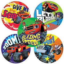 100 Monster Truck Theme Party Smilemakers Blaze And The Machines Stickers Birthday And