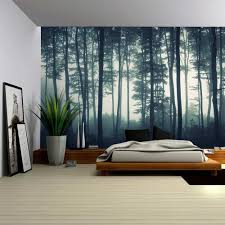 Amazon Wall26 Landscape Mural of a Misty Forest Wall