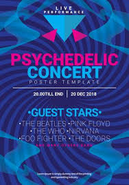 Simple Psychedelic Concert Poster Template